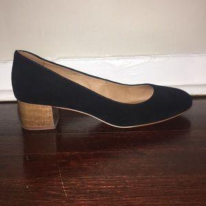 Madewell Ella suede block heels, black